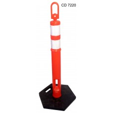 CD 7220 - Poste demarcatorio naranja con base de goma